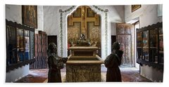The Serra Cenotaph In Carmel Mission Hand Towel
