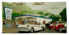 The Shake Shoppe Portsmouth Ohio 1960 Bath Towel
