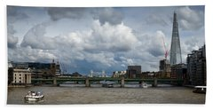 The Shard And Thames View Bath Towel