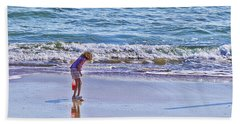 The Shell Hunter Bath Towel by Kenny Francis