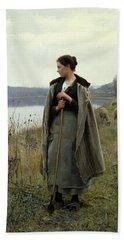 The Shepherdess Of Rolleboise Hand Towel