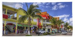 The Shops Of Cozumel Hand Towel by Jason Politte