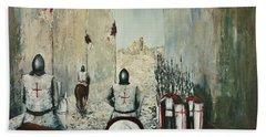 The Siege Of Ascalon Bath Towel