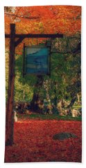 Hand Towel featuring the photograph The Sign Of Fall Colors by Jeff Folger
