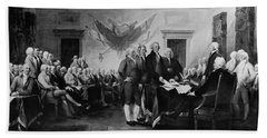The Signing Of The Declaration Of Independence Bath Towel
