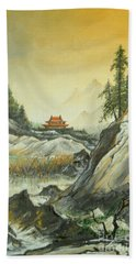 The Silence In The Mountains Bath Towel