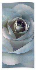 The Silver Luminous Rose Flower Hand Towel