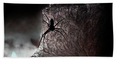 The Spider On The Candle - Subtly Colored Version Bath Towel