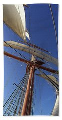 The Star Of India. Mast And Sails Hand Towel