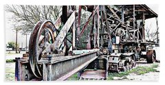 The Steam Shovel Hand Towel by Glenn McCarthy Art and Photography