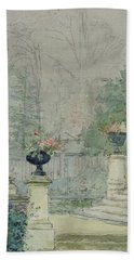 The Steps Of Les Fourneaux At Melun Hand Towel