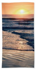 Sun Rising Over The Beach Hand Towel by Vizual Studio