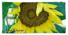 Sunflower Garden Bath Towel
