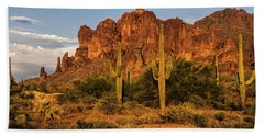 The Superstitions At Sunset  Hand Towel