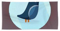 The Swallow Cute Portrait Hand Towel by Florian Rodarte