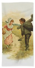 The Sweep And The Milkmaid Book Illustration Hand Towel