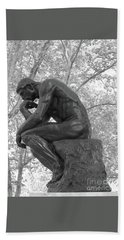 The Thinker - Philadelphia Bw Hand Towel