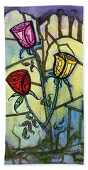 The Three Roses Hand Towel by Terry Webb Harshman