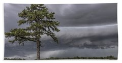 The Thunder Rolls - Storm - Pine Tree Bath Towel