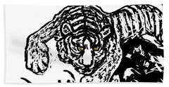 The Tiger  Hand Towel