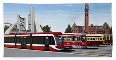 The Toronto Streetcar 100 Years Hand Towel by Kenneth M  Kirsch