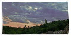 Hand Towel featuring the photograph The Tower by Eti Reid