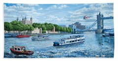 The Tower Of London Hand Towel by Steve Crisp