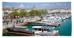 The Town And Port Of La Rochelle Hand Towel