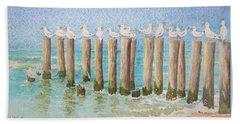 The Town Meeting Bath Towel by Mary Ellen Mueller Legault