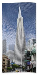 The Transamerica Pyramid - San Francisco Hand Towel by Mike McGlothlen