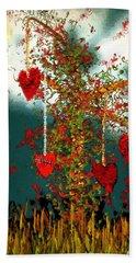 The Tree Of Hearts Bath Towel