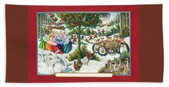 The Twelve Days Of Christmas Hand Towel