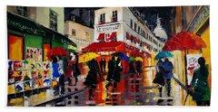 The Umbrellas Of Montmartre Bath Towel