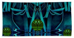 The Under Water Temple Bath Towel