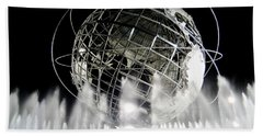 The Unisphere's 50th Anniversary Bath Towel by Ed Weidman