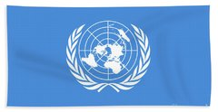 The United Nations Flag  Authentic Version Hand Towel
