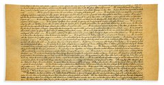 The United States Declaration Of Independence - Square Bath Towel