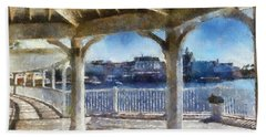 The View From The Boardwalk Gazebo Wdw 02 Photo Art Bath Towel