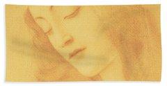 The Virgin After Botticelli Bath Towel