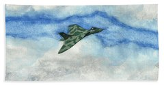 Bath Towel featuring the painting The Vulcan Bomber by John Williams
