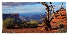 The Watchman Hand Towel by Jim Garrison