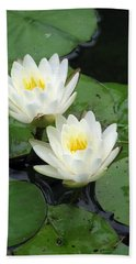 Hand Towel featuring the photograph The Water Lilies Collection - 07 by Pamela Critchlow