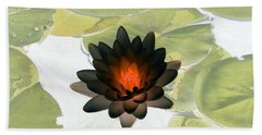 Hand Towel featuring the photograph The Water Lilies Collection - Photopower 1034 by Pamela Critchlow