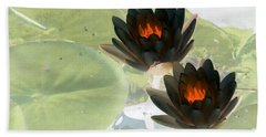 Hand Towel featuring the photograph The Water Lilies Collection - Photopower 1039 by Pamela Critchlow