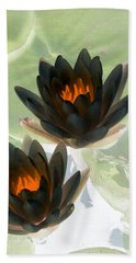 Hand Towel featuring the photograph The Water Lilies Collection - Photopower 1046 by Pamela Critchlow