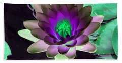 Hand Towel featuring the photograph The Water Lilies Collection - Photopower 1114 by Pamela Critchlow