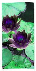 Hand Towel featuring the photograph The Water Lilies Collection - Photopower 1119 by Pamela Critchlow