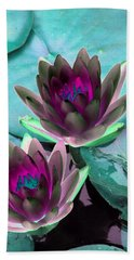 Hand Towel featuring the photograph The Water Lilies Collection - Photopower 1124 by Pamela Critchlow