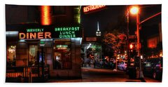The Waverly Diner And Empire State Building Hand Towel