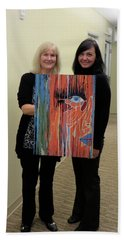 Bath Towel featuring the painting The Way Eye See It by Kathleen Sartoris